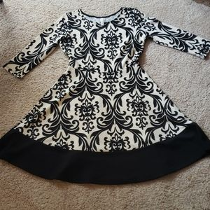 Patterned Fit and Flare Dress
